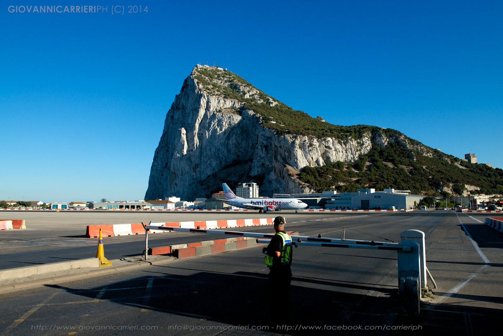 Airplane landed on Gibraltar Airport
