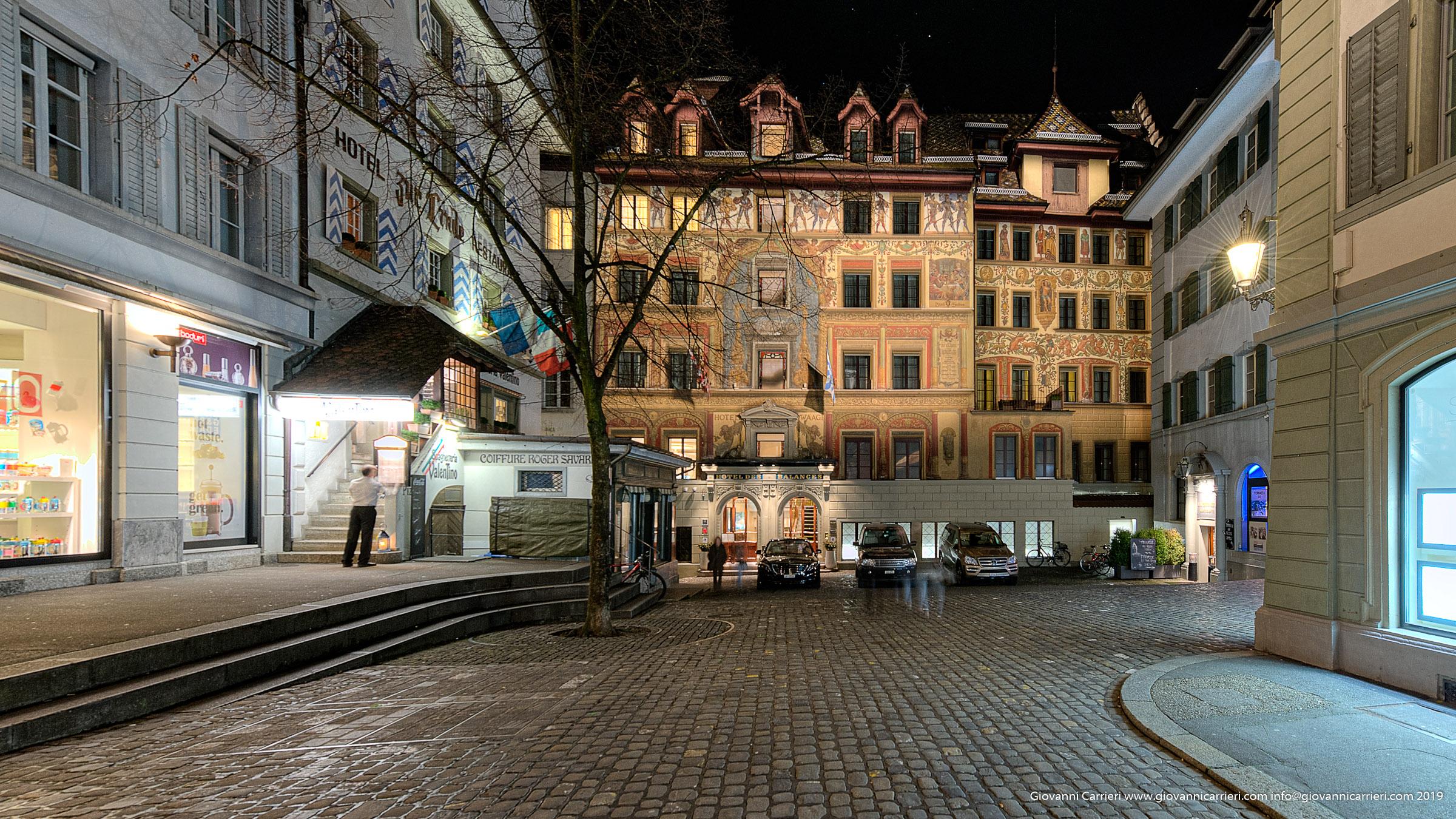 Dettagli della via Weinmarkt - Lucerna