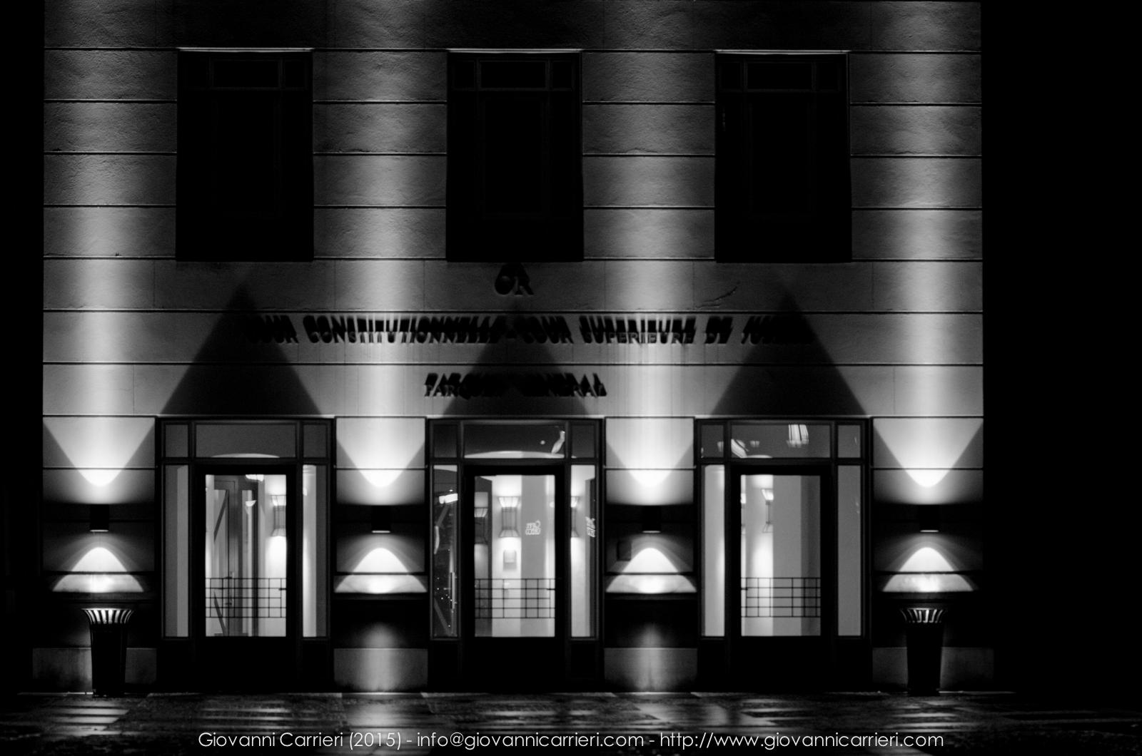 Particolare della città giudiziaria Lussemburghese