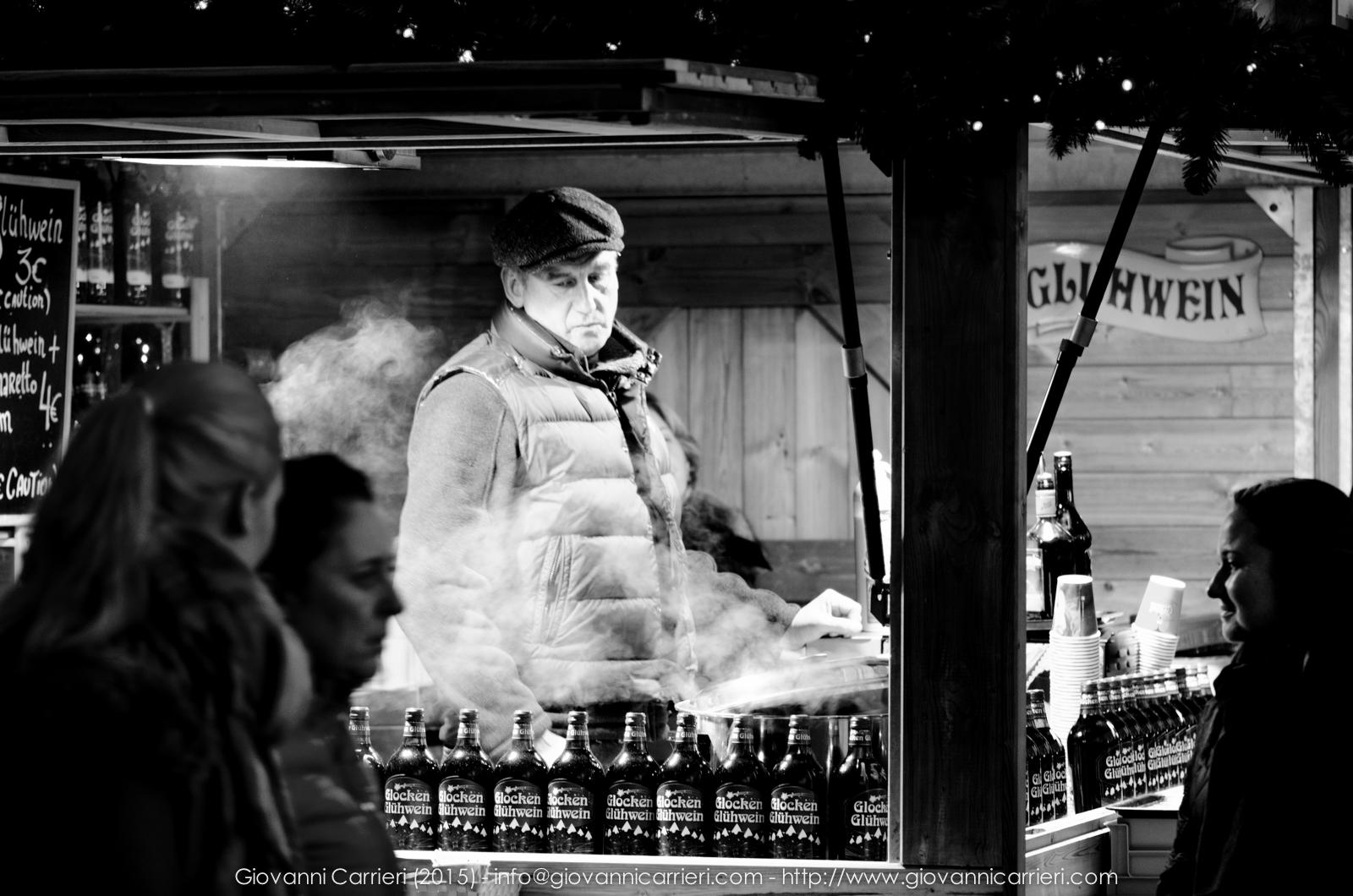 Scena dal mercatino di natale Lussemburghese