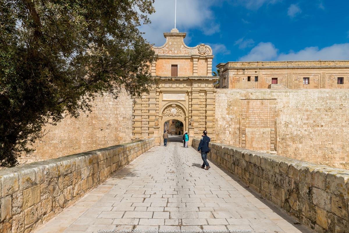 Il porta di ingresso di Mdina - Malta