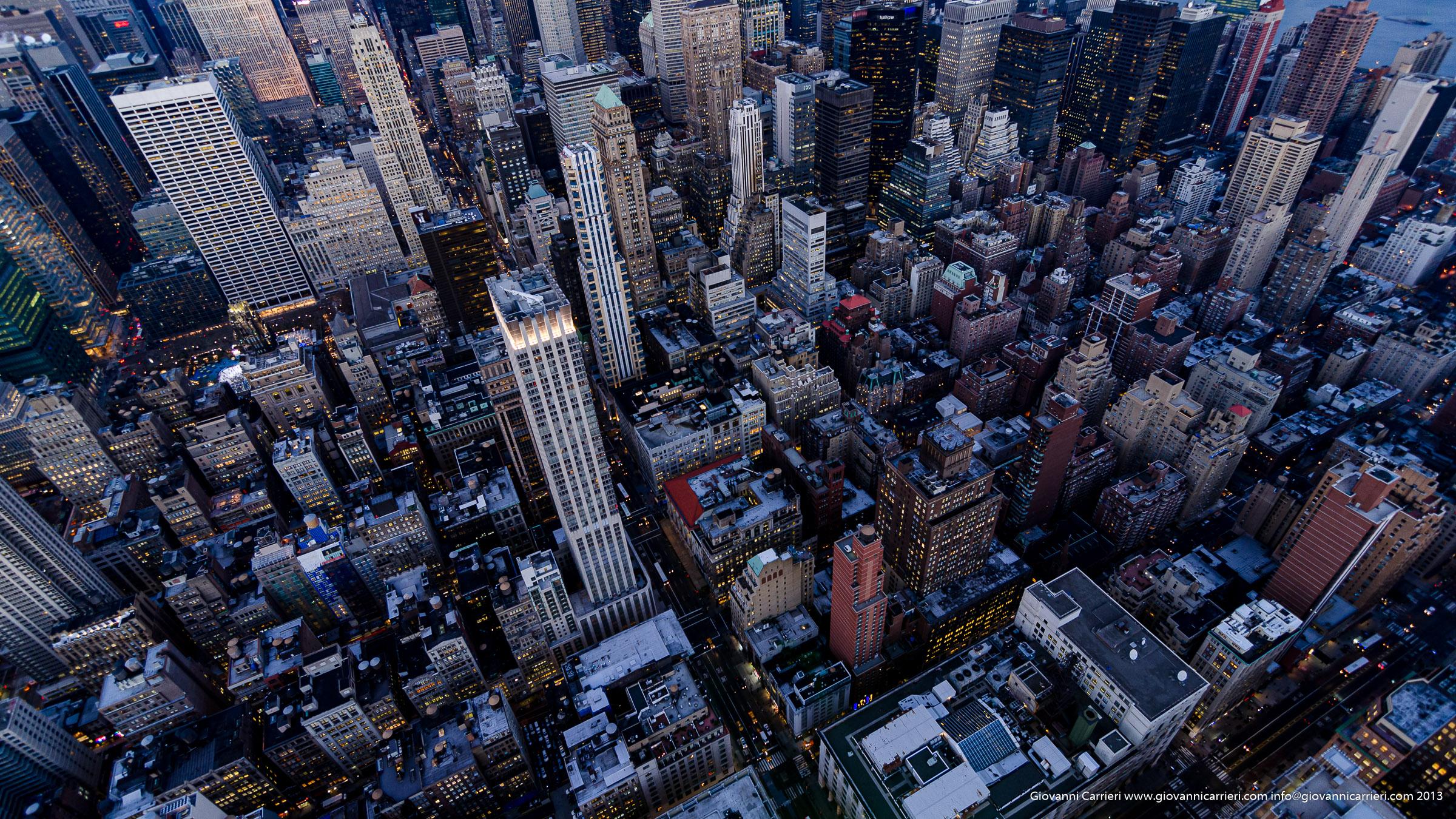 La 5a avenue vista dall'87 piano dell'Empire State Building