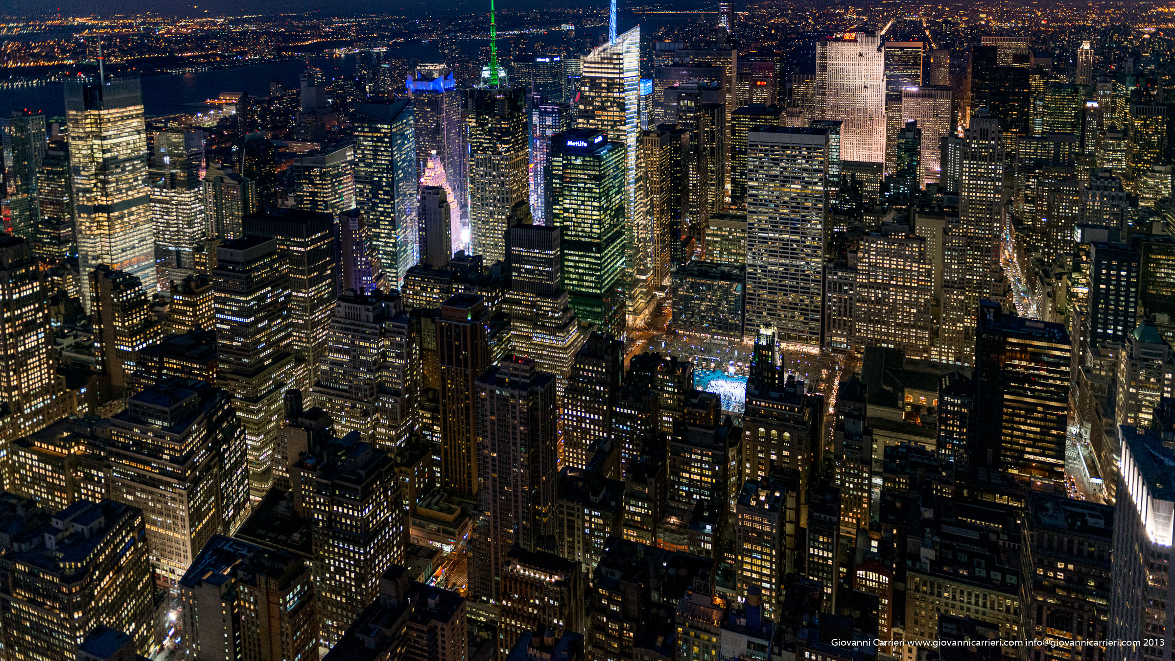Il grattacielo Citigroup Center visto dall'Empire State Building