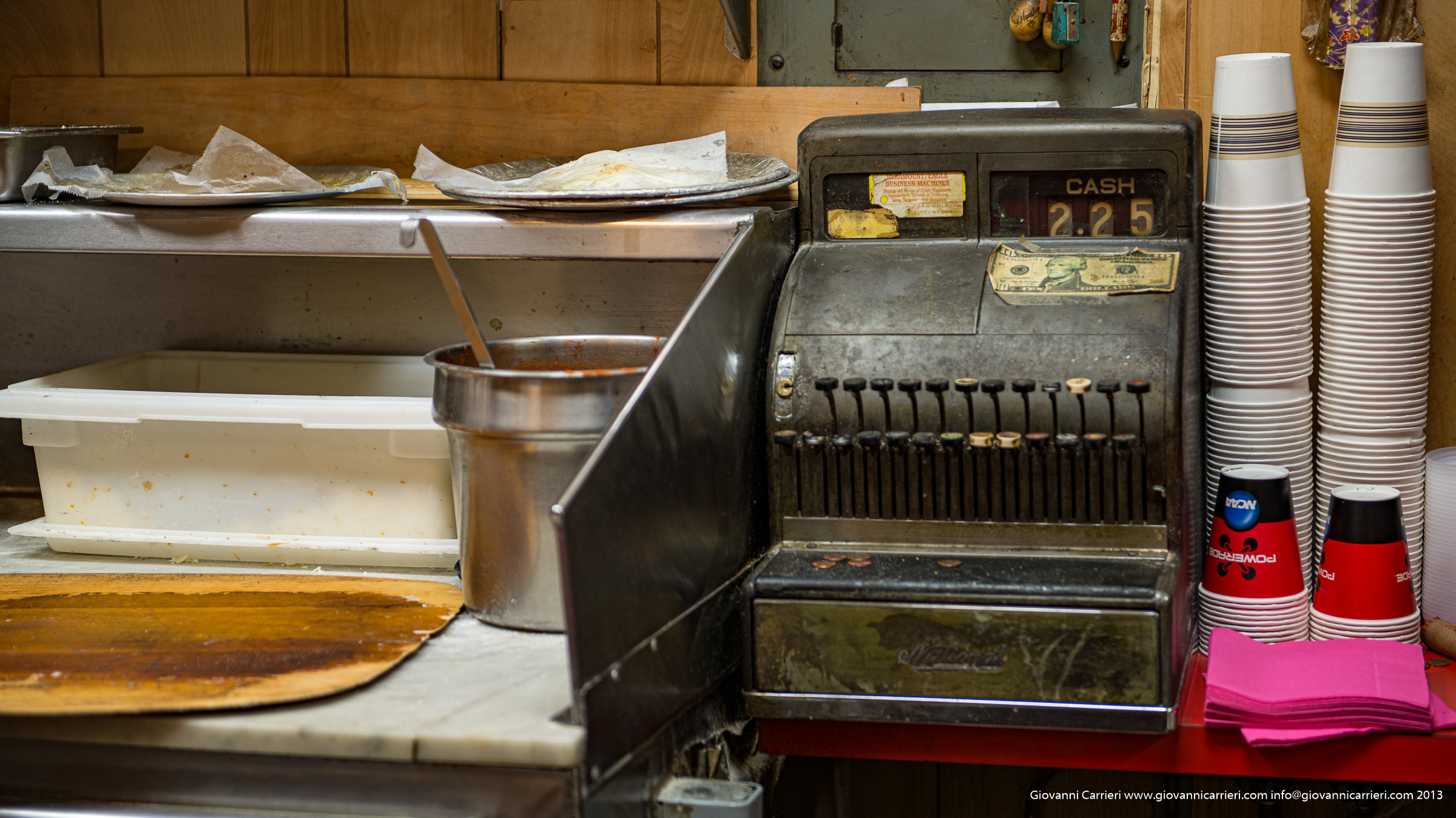 Il registratore di cassa della pizzeria di Luigi a Brooklyn