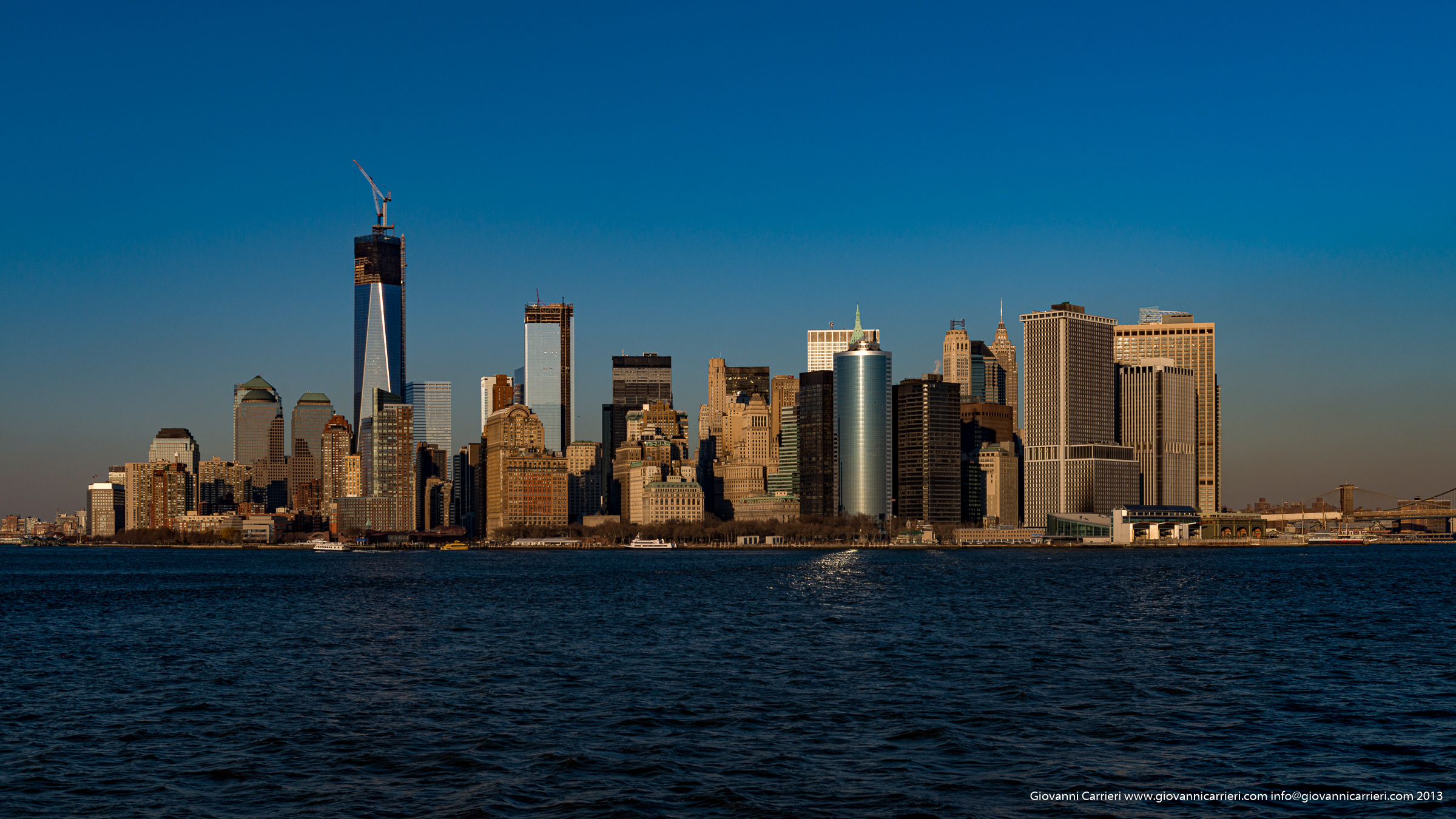 Manhattan skyline viewed from south