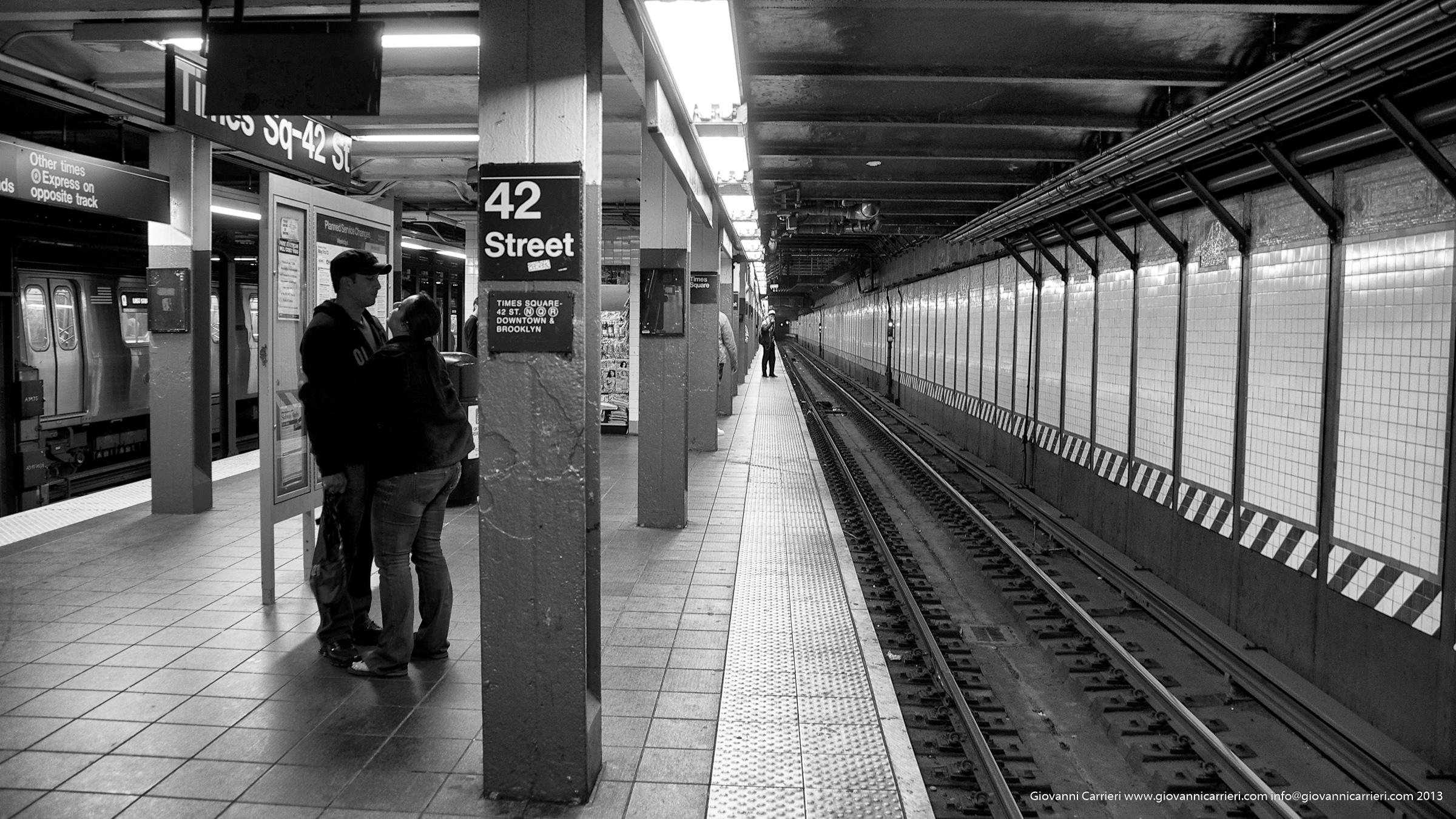La stazione della metro sulla 42esima strada - Manhattan