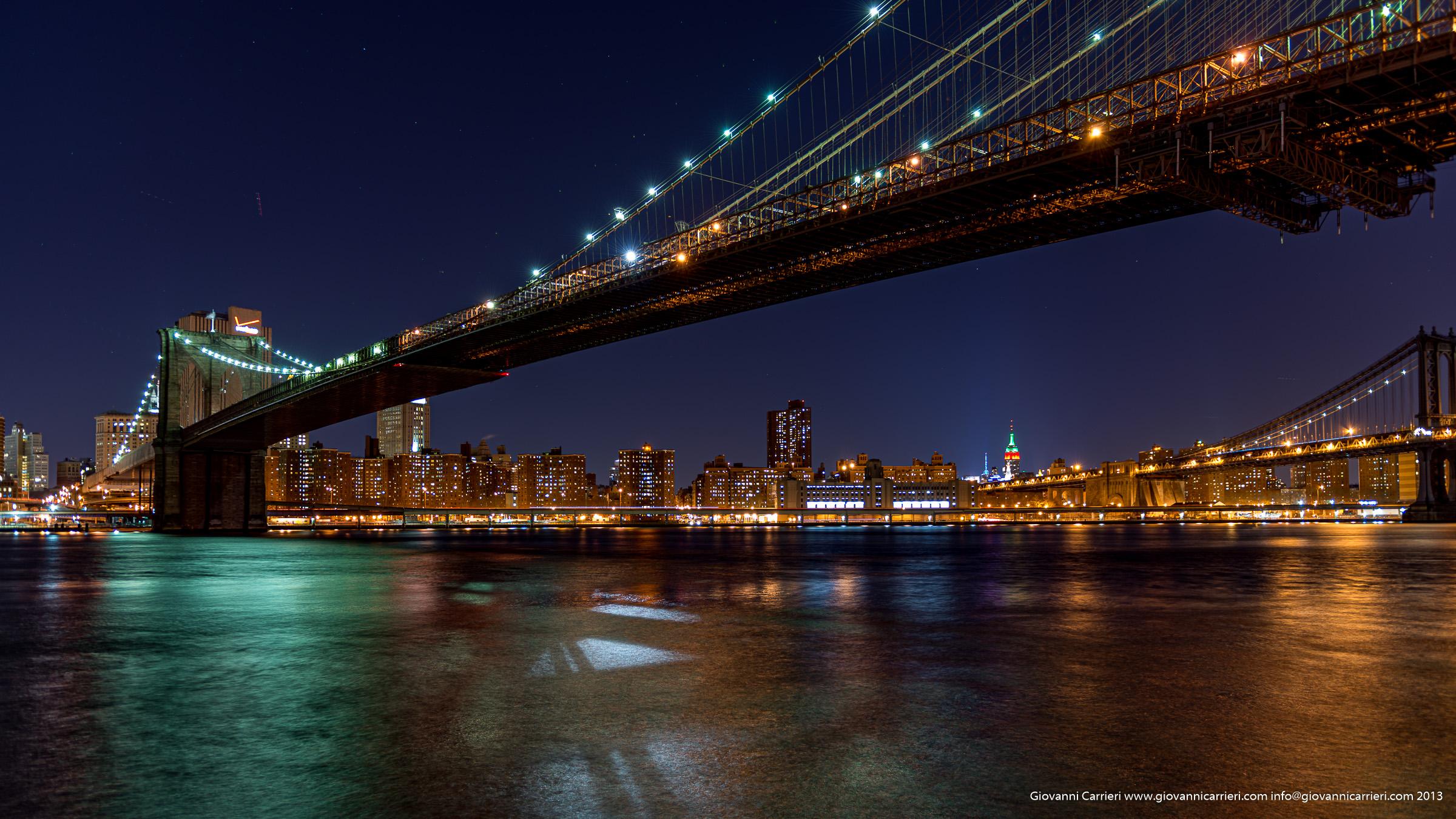 Il ponte di Brooklyn e la Skyline di Manhattan