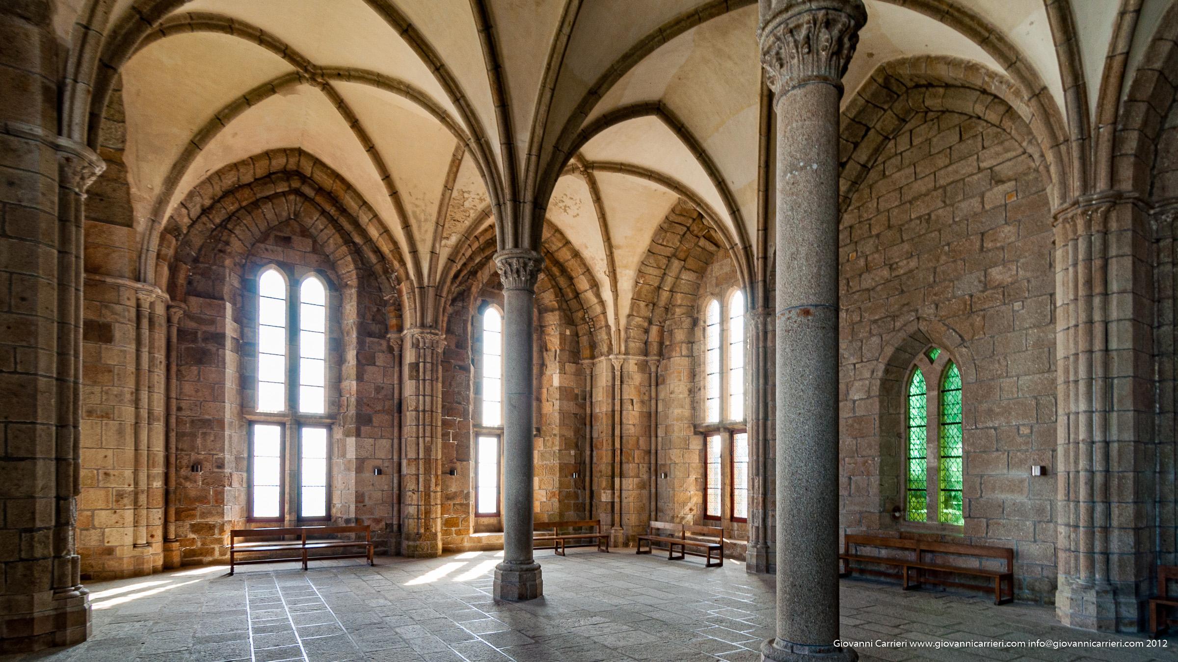 dentro l'Abbazia di Mont-Saint-Michel