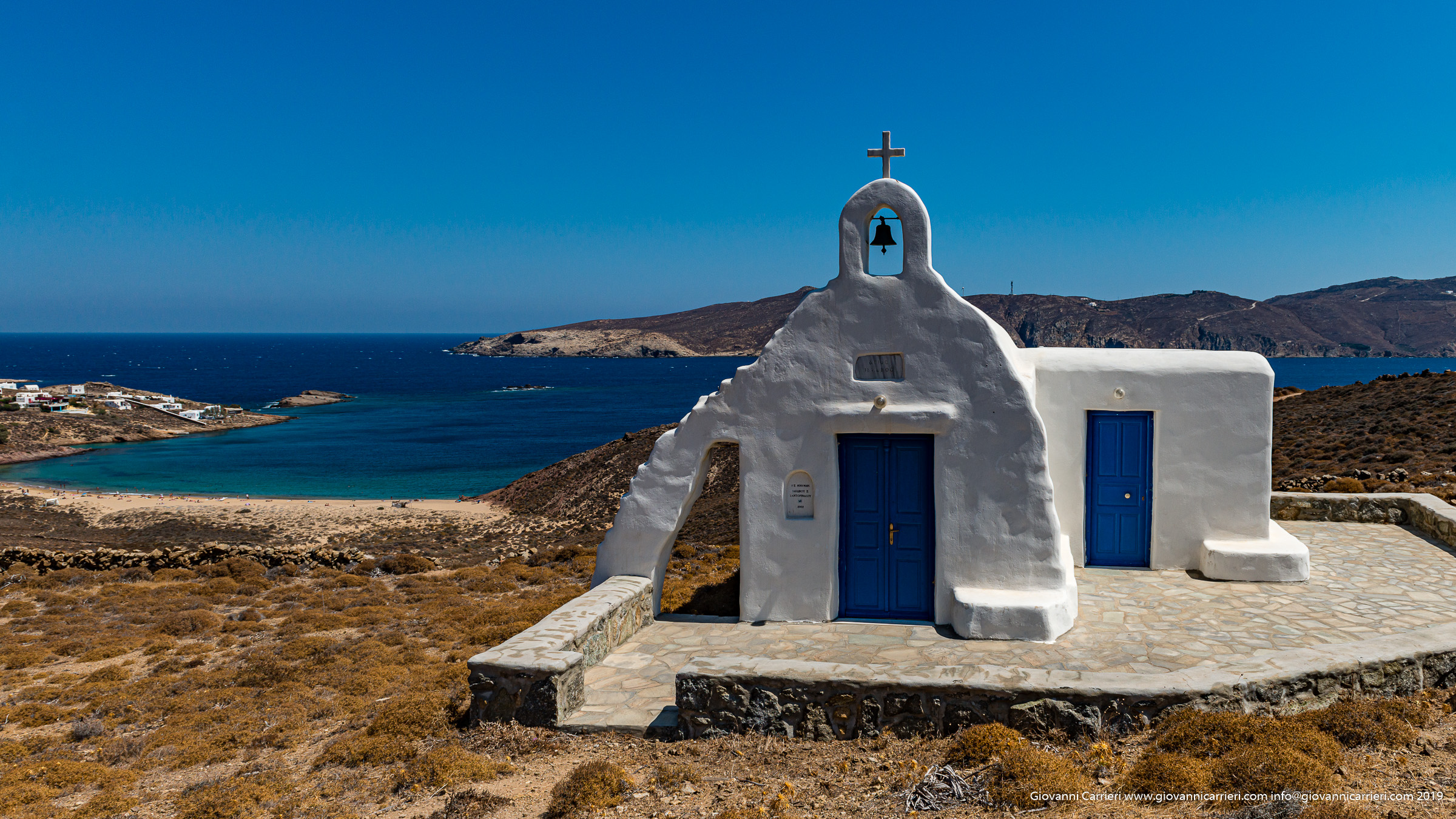 The churches and the view of Mykonos
