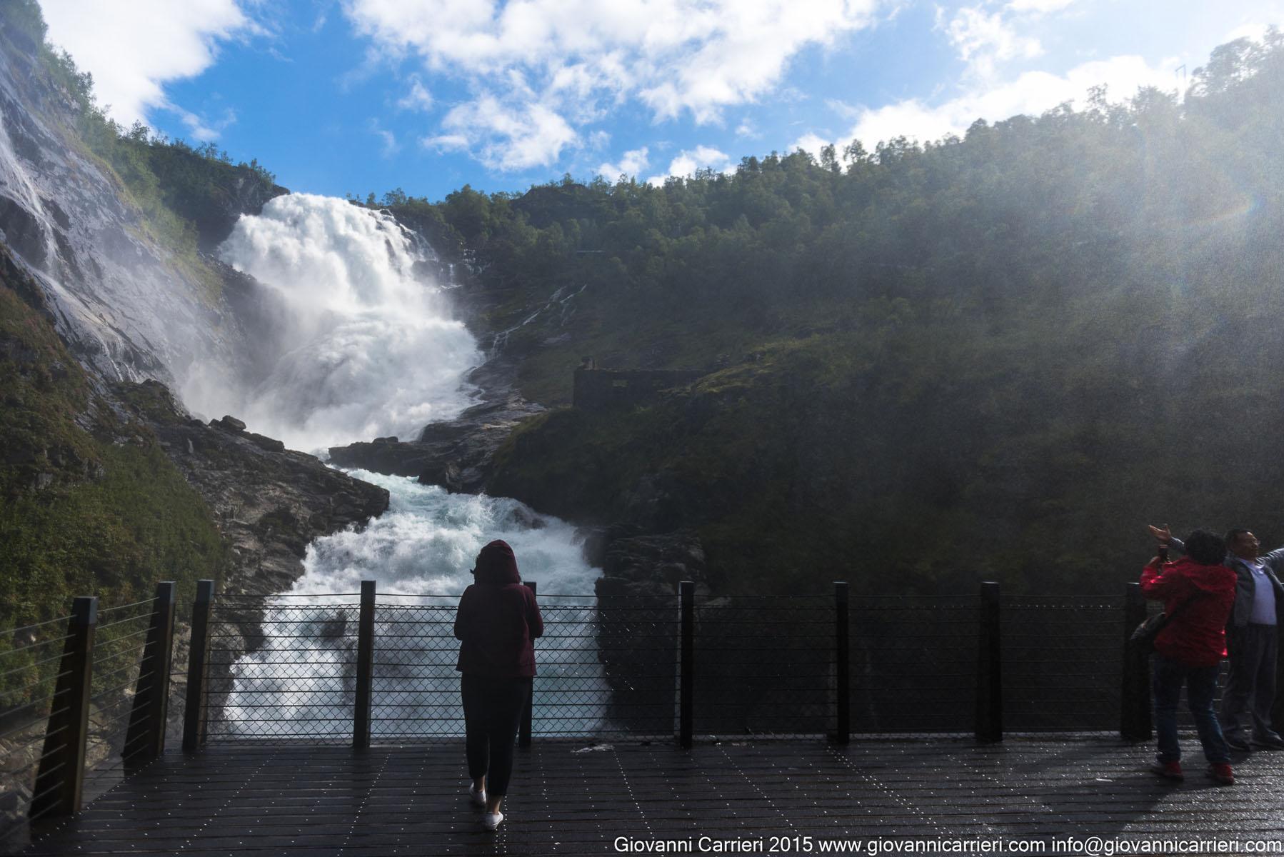 The splendid waterfalls Kjosfossen