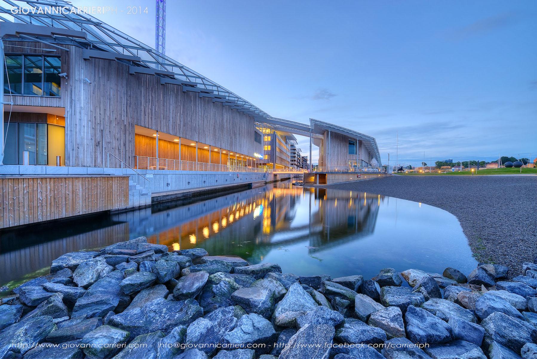 Particolari del Museo di Arte Moderna Astrup Fearnley di Oslo, disegnato da Renzo Piano
