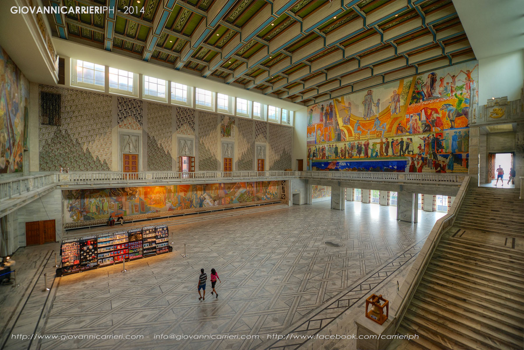 Il Radhuset di Oslo, vista interna