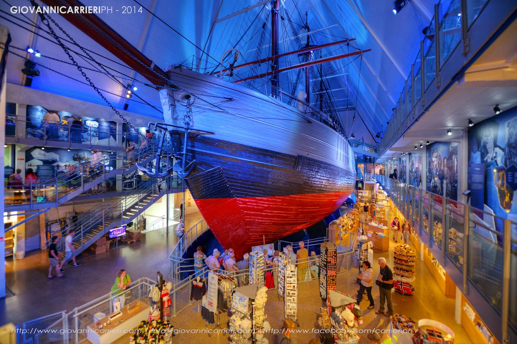 Vista interna del museo Framm, Oslo