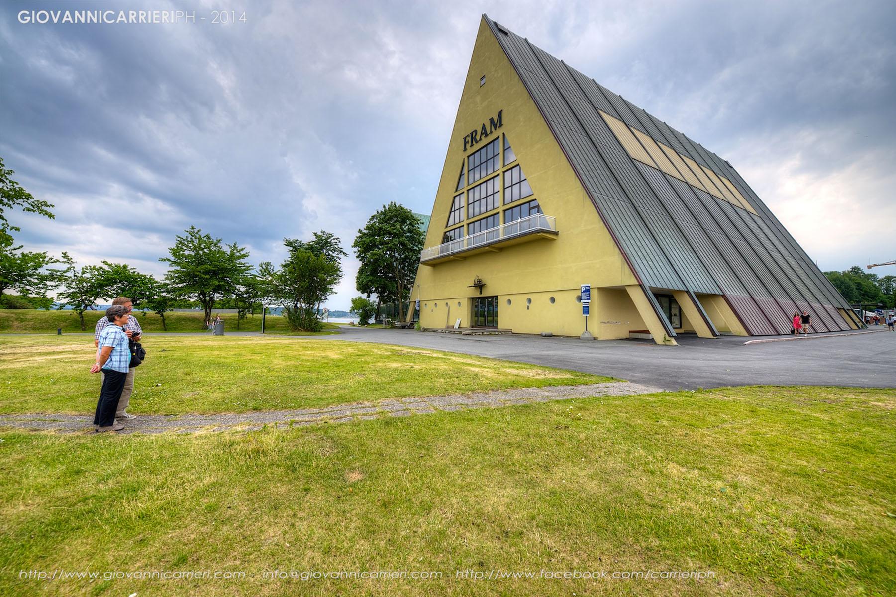 Il museo Framm di Oslo, vista esterna