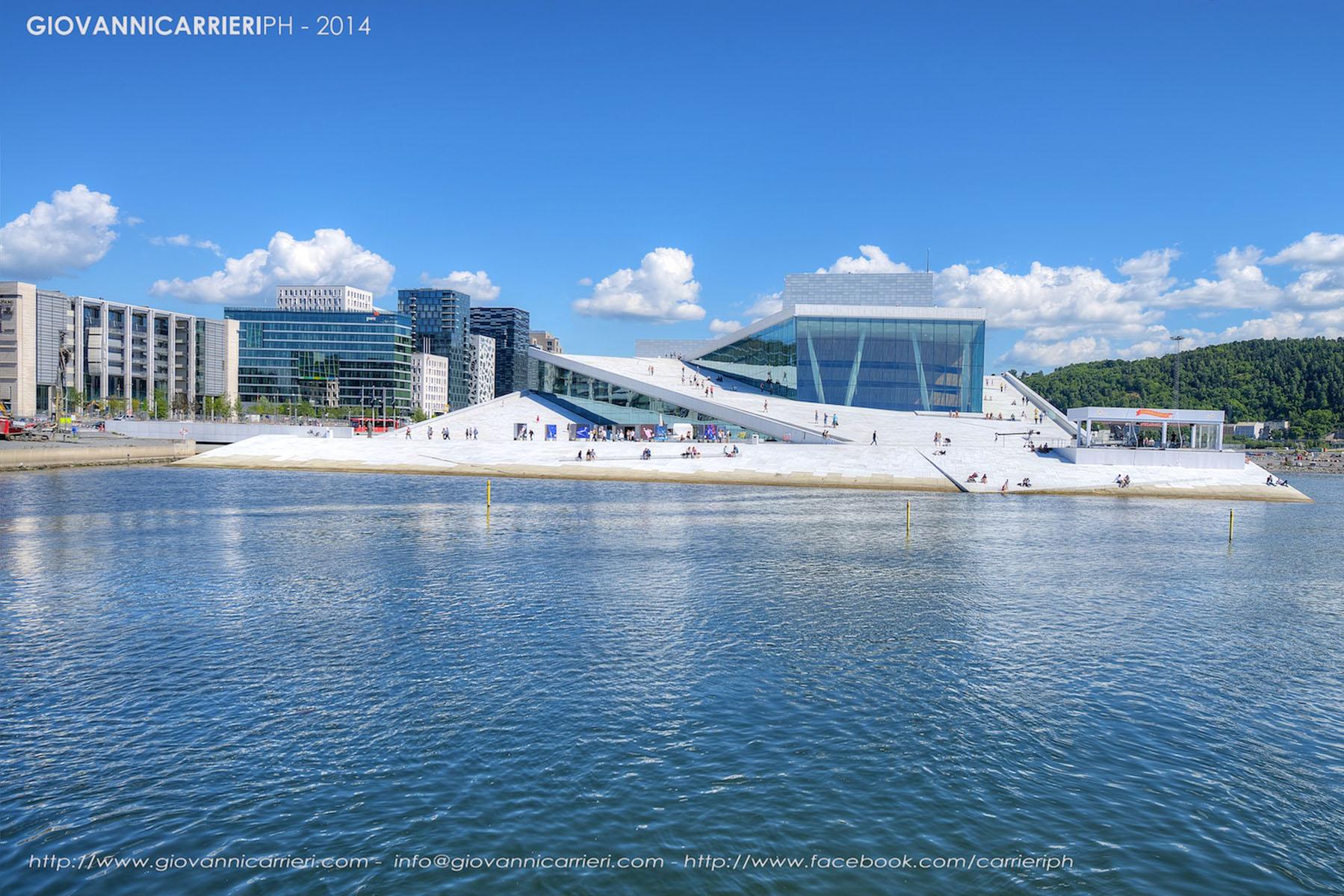Il teatro National Oslo Opera House visto di giorno