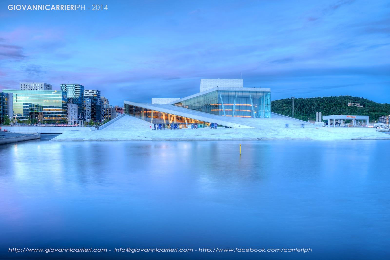 Oslo Opera House vista notturna