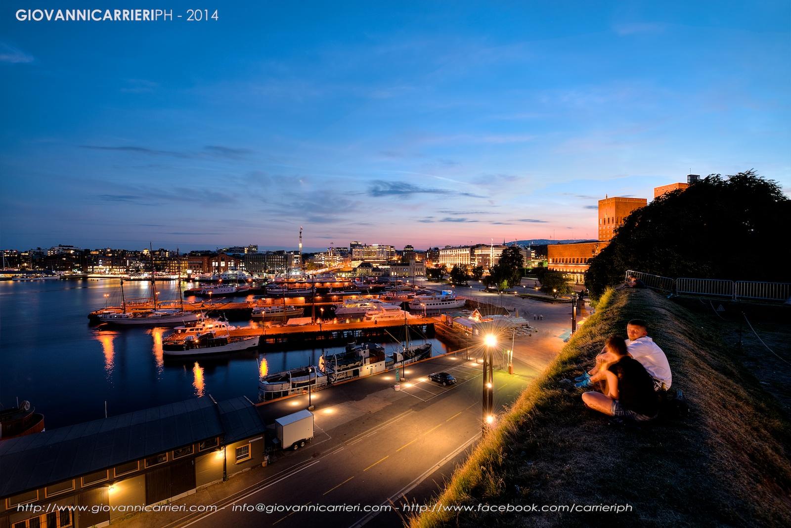 Il panorama del centro di Oslo. Aker Brygge