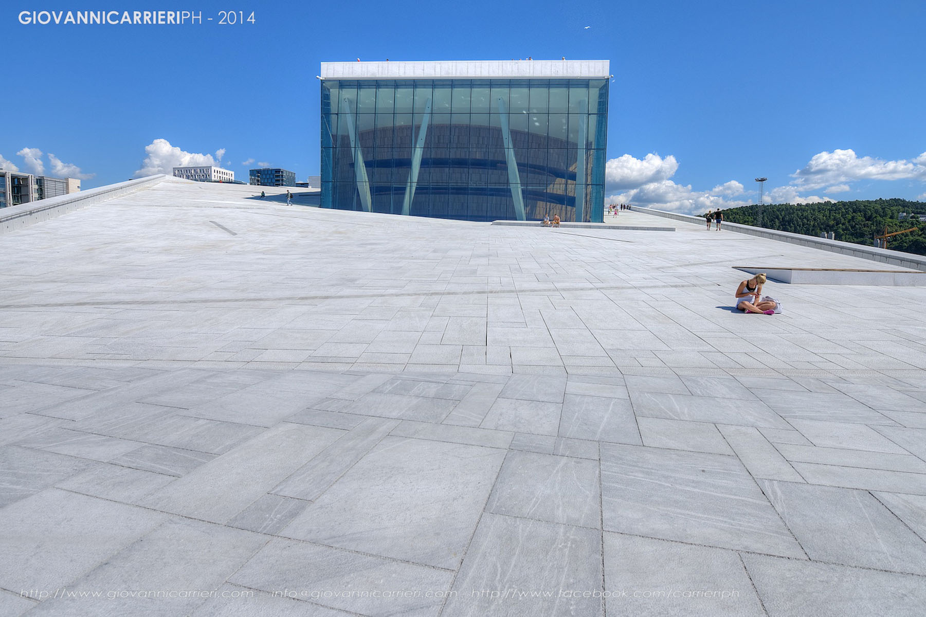 Front view of the Opera House in Oslo