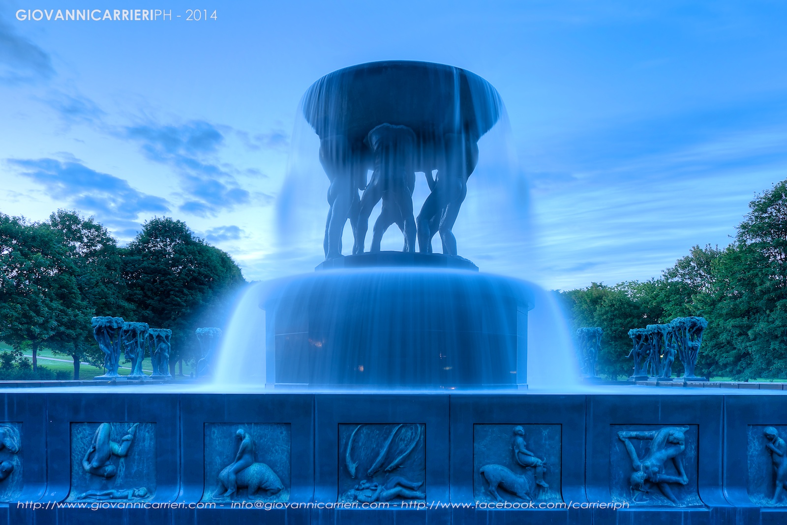 The fountain of Gustav Vigeland, Forgner Park, Oslo