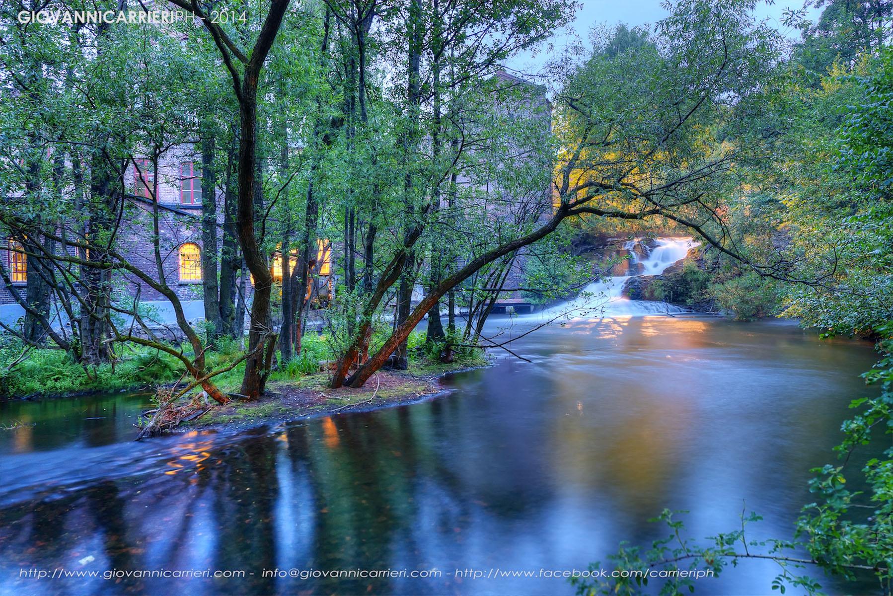 Il fiume Akerselva e le sue cascate. Oslo