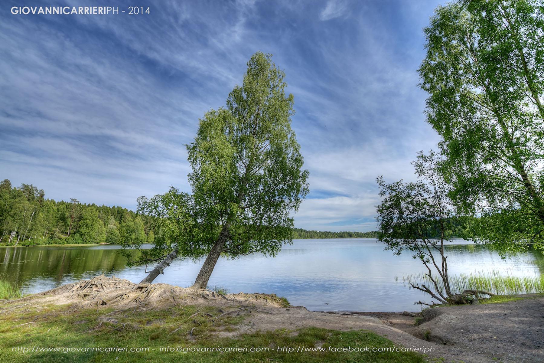 Paesaggio del lago Sognsvann, Oslo