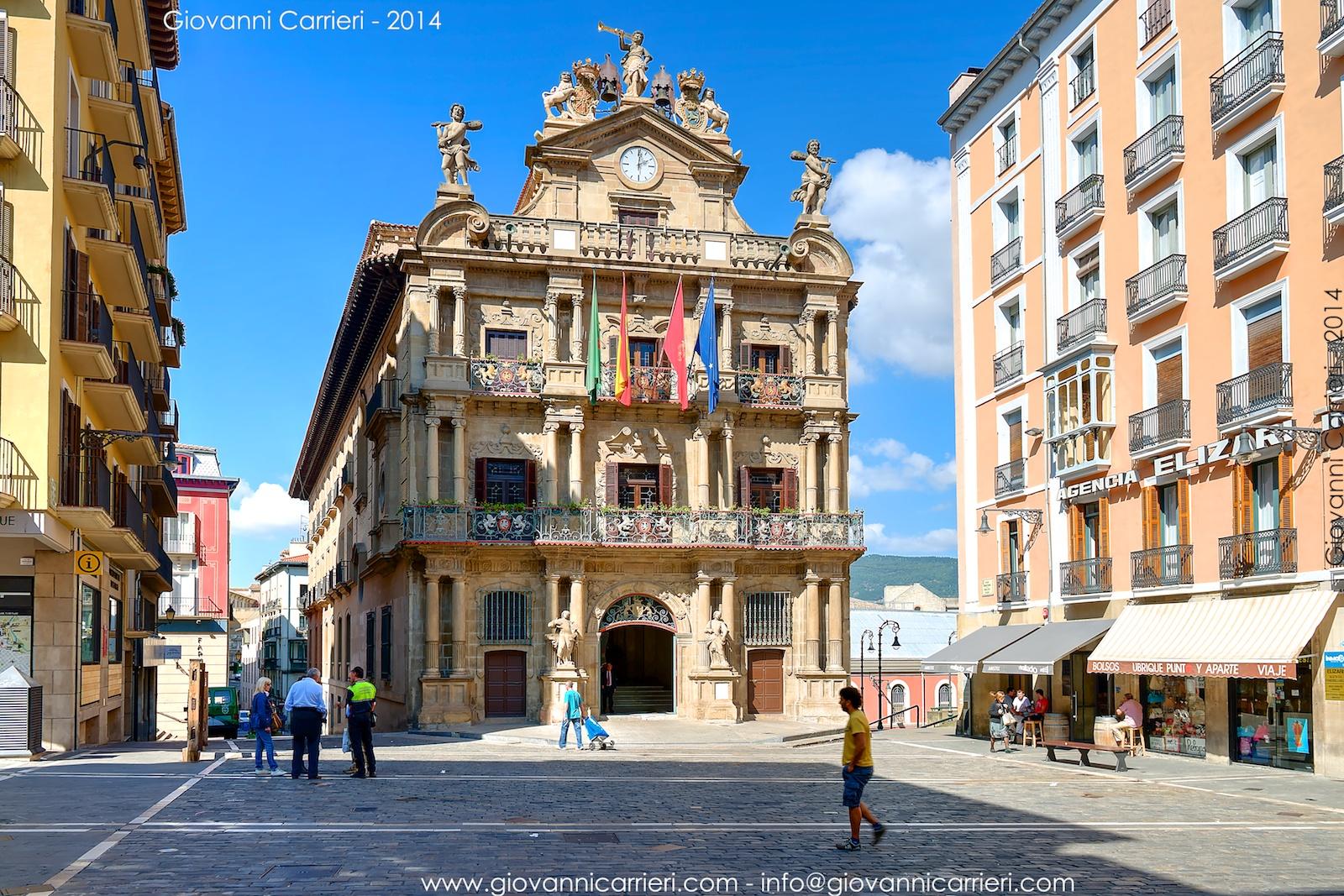 Il palazzo comunale di Pamplona chiamato Ayuntamiento