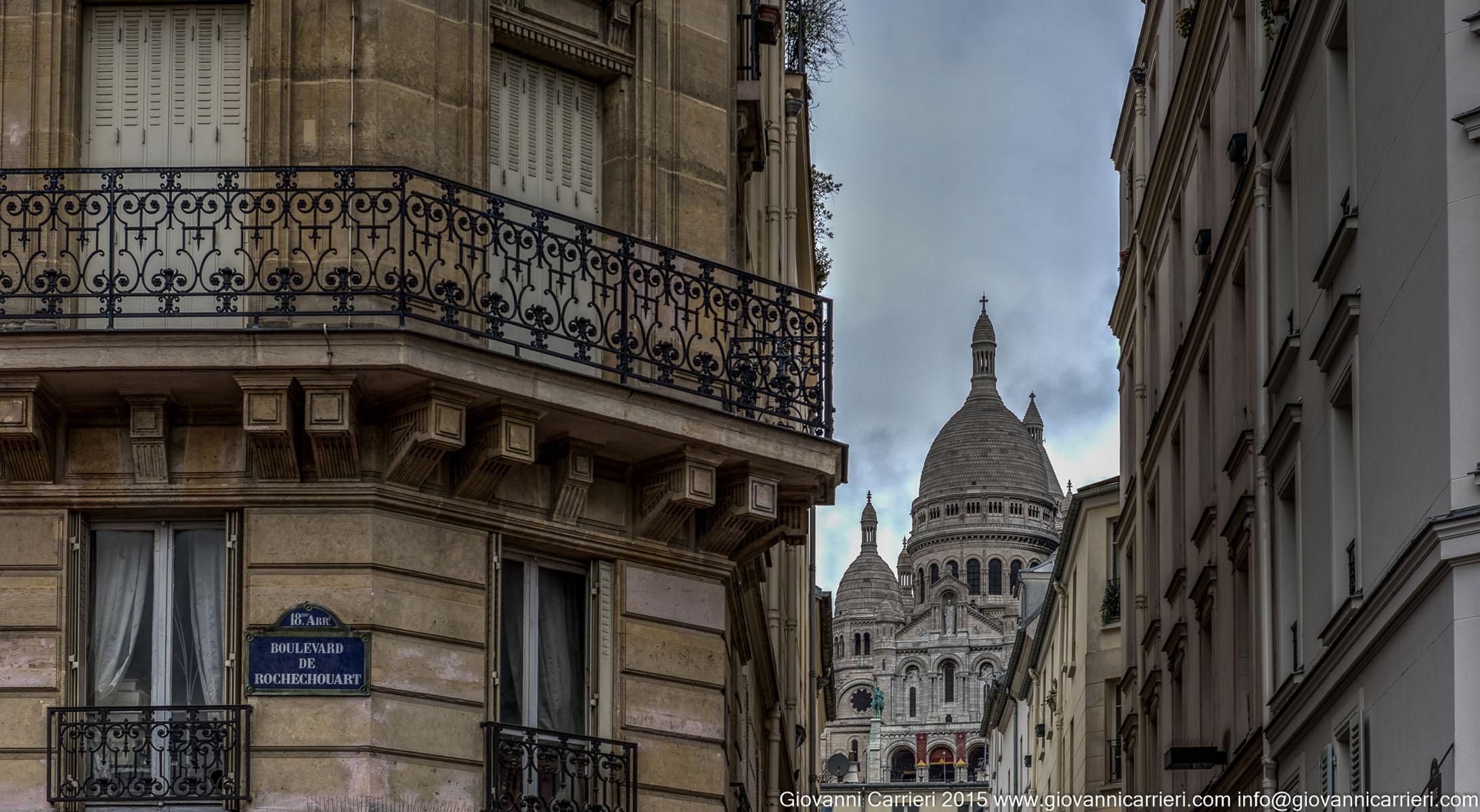 Il Sacro Cuore visto da Montmartre, Boulevard de Rochechouart