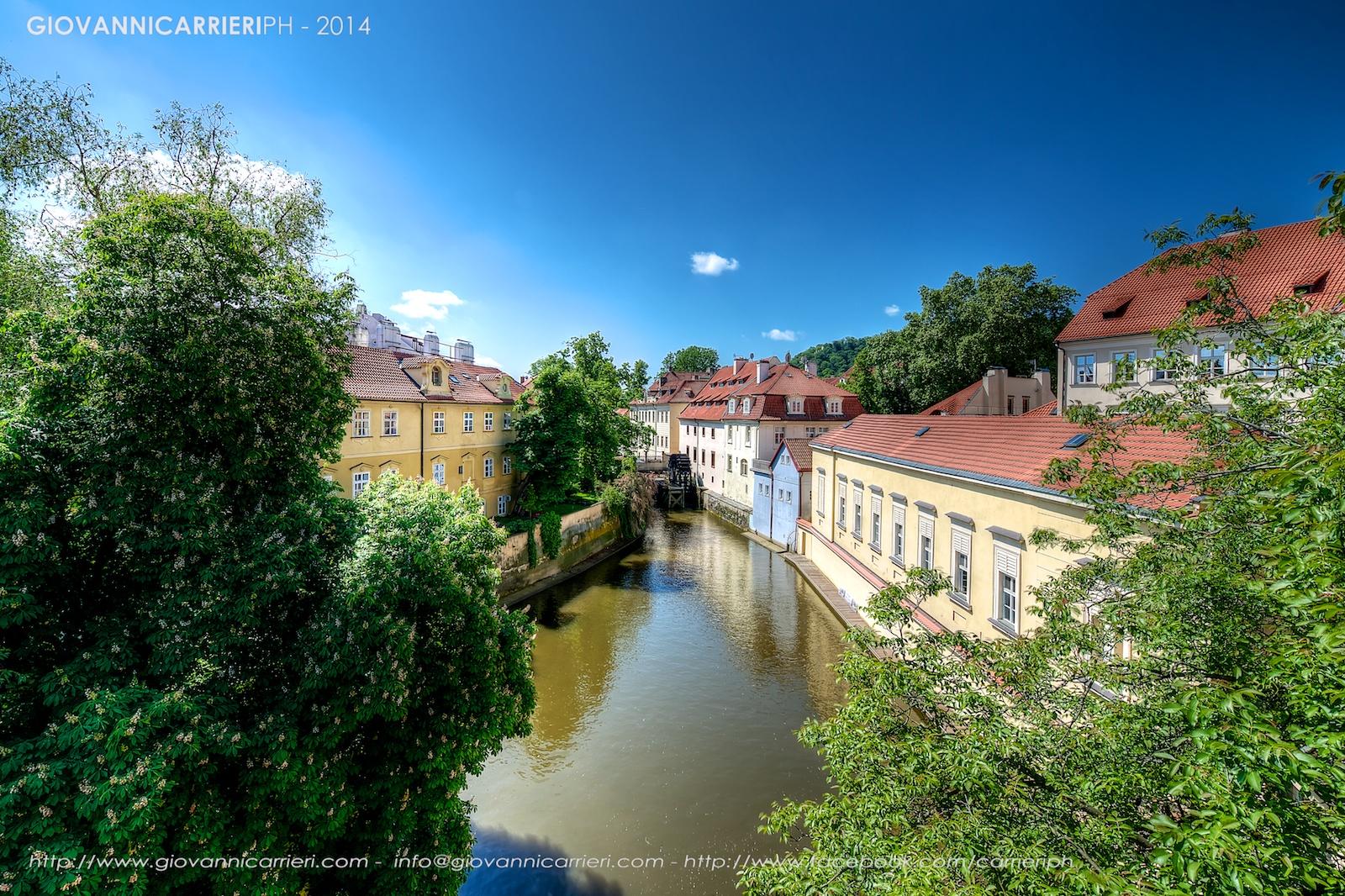 Il canale Certovka della Moldova - Praga