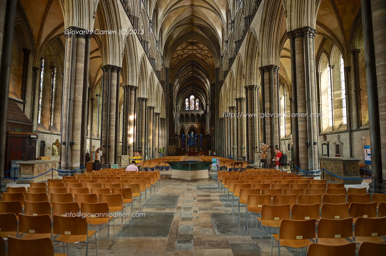 Navata centrale della Cattedrale di Salisbury