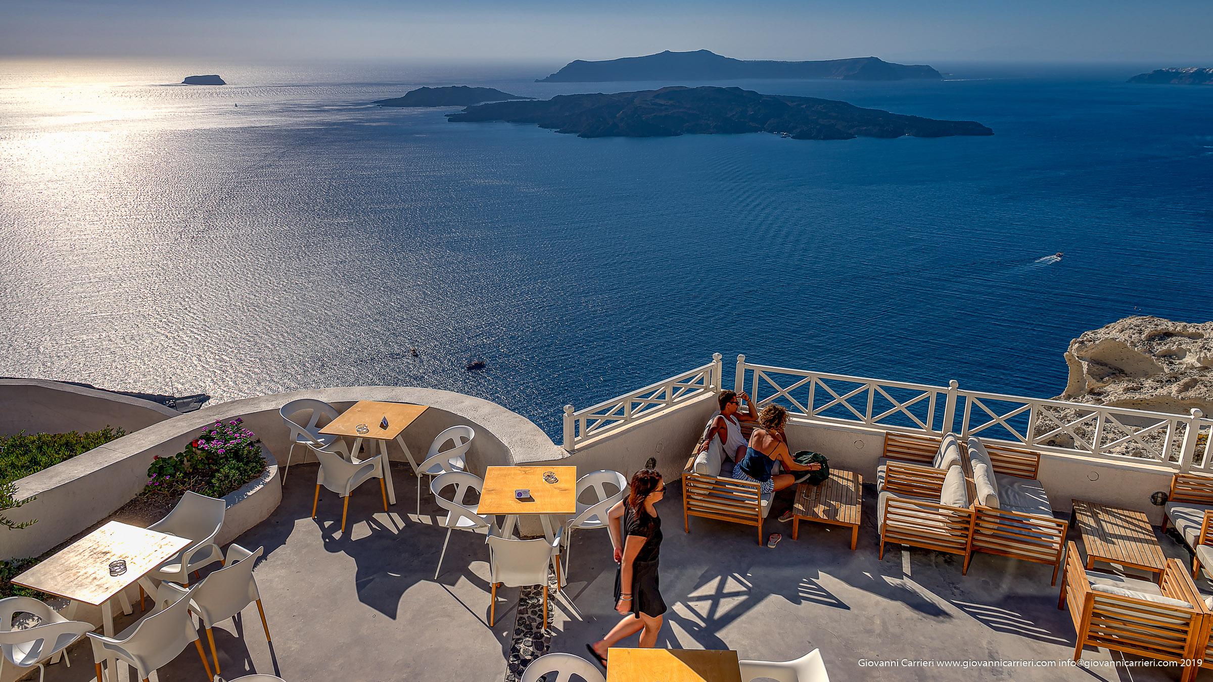 Il panorama della caldera visto da Santo Wines - Santorini