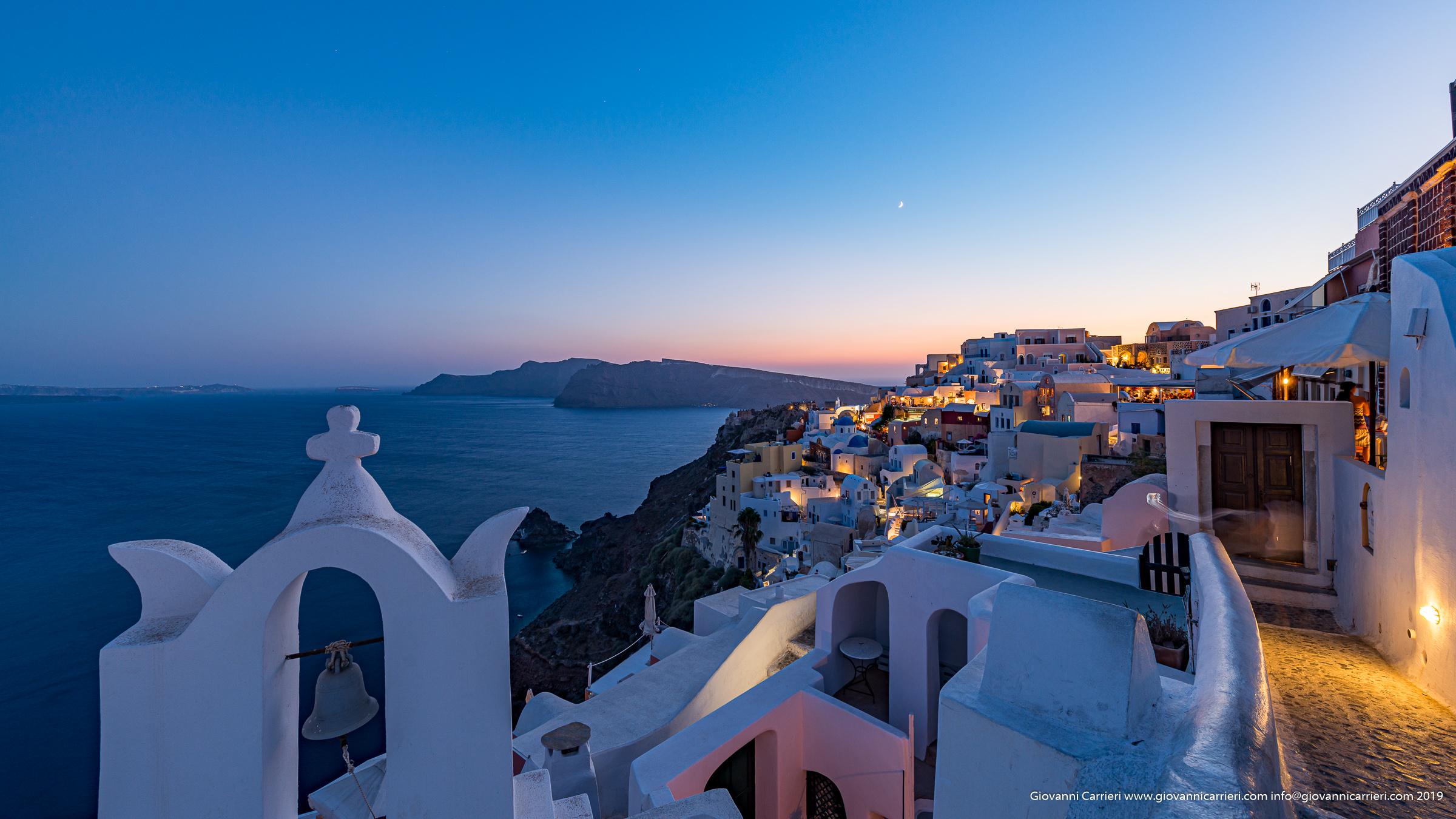 Il tramonto su Oia - Santorini