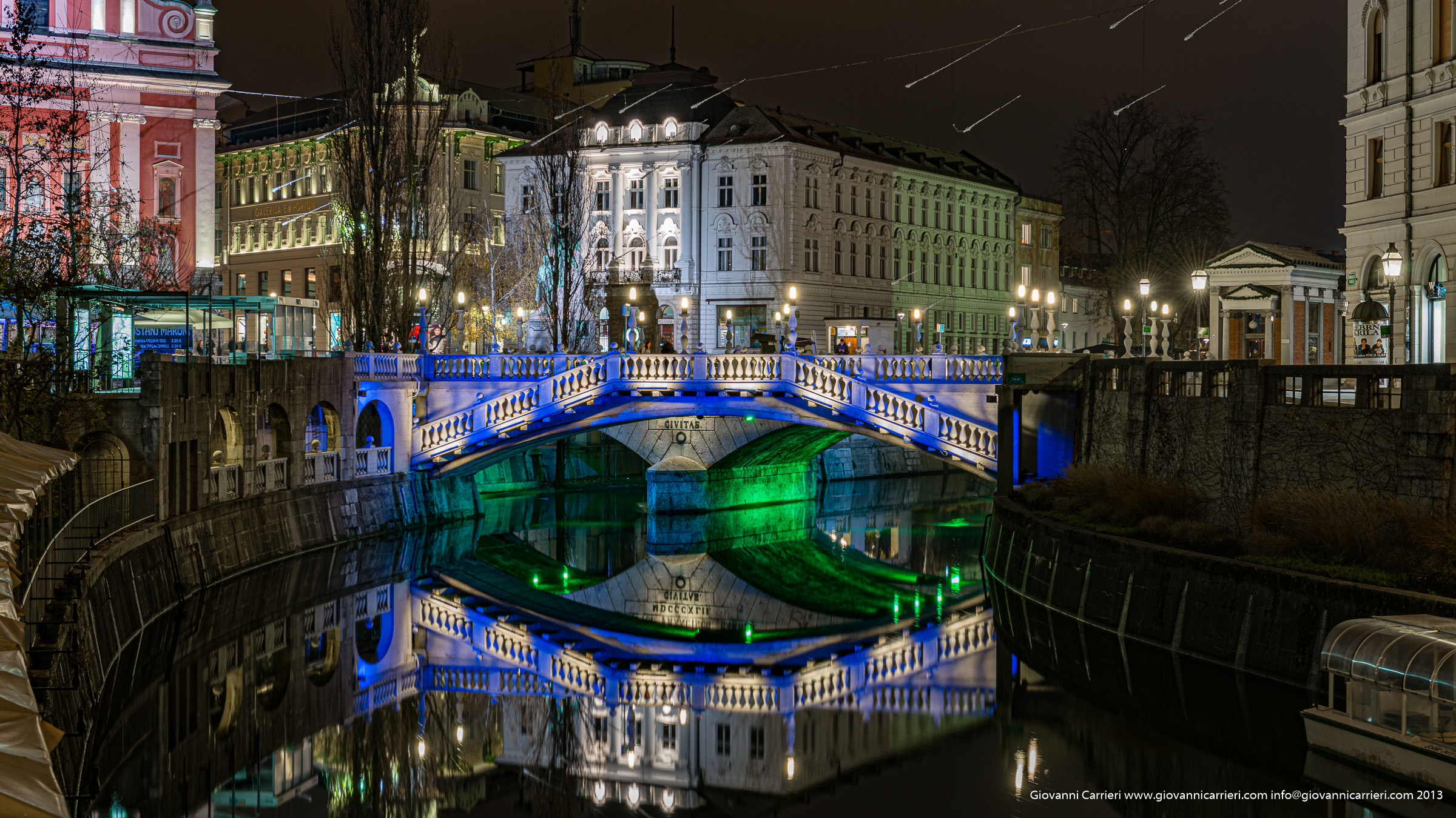 Bridges and symmetrical reflections - Ljubljana