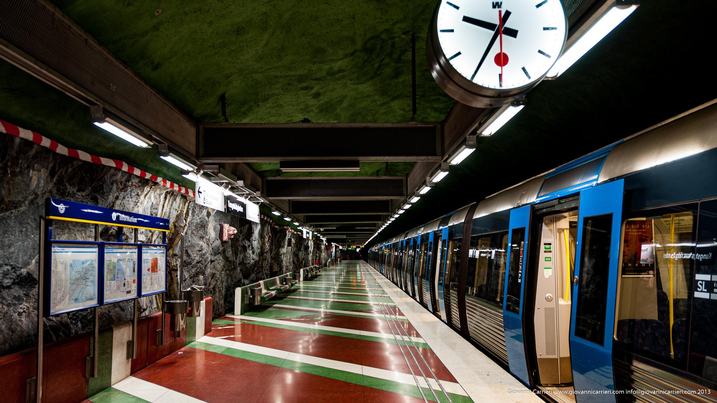 una fermata della metropolitana di Stoccolma