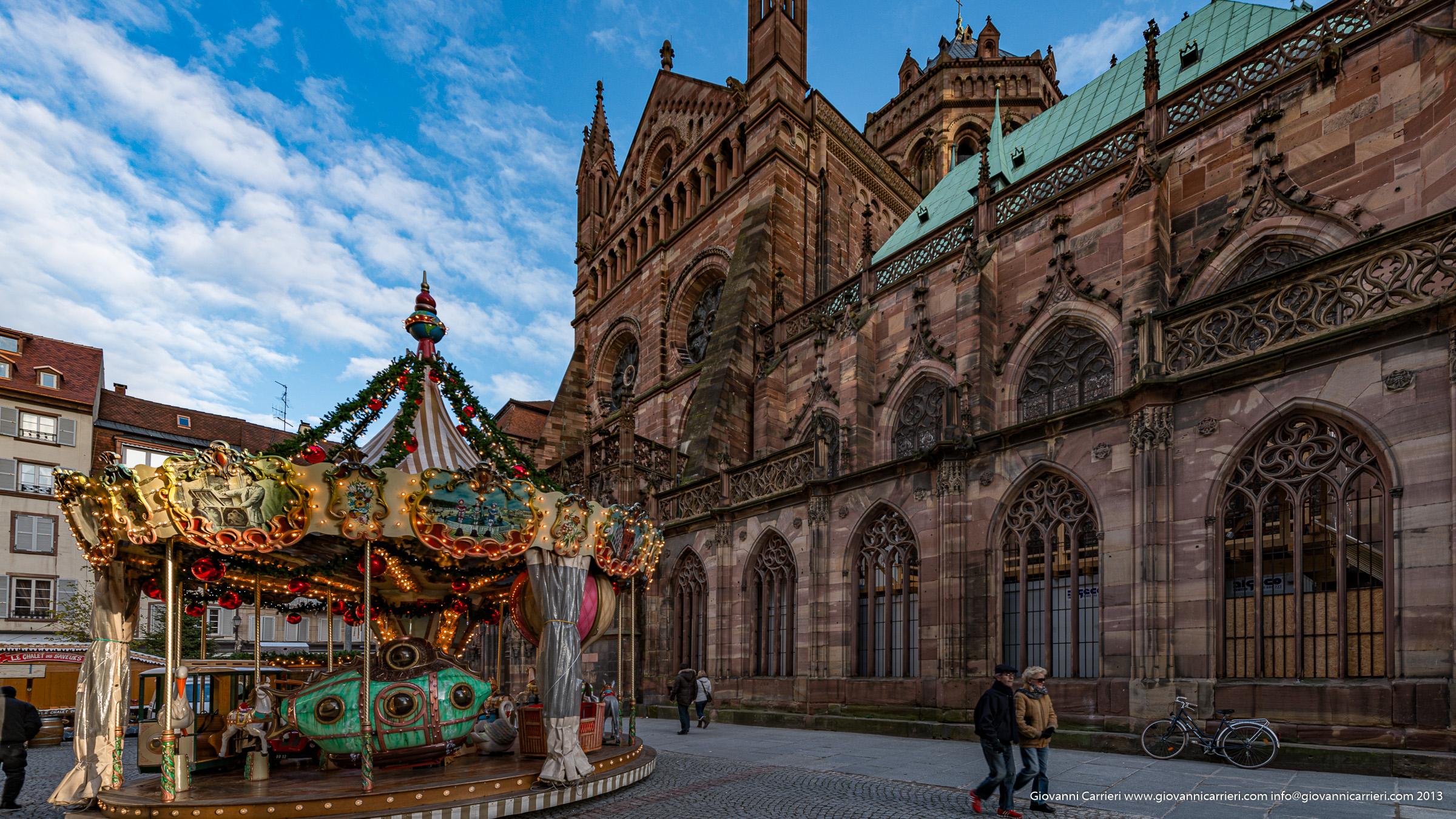 Vista esterna della cattedrale - Strasburgo