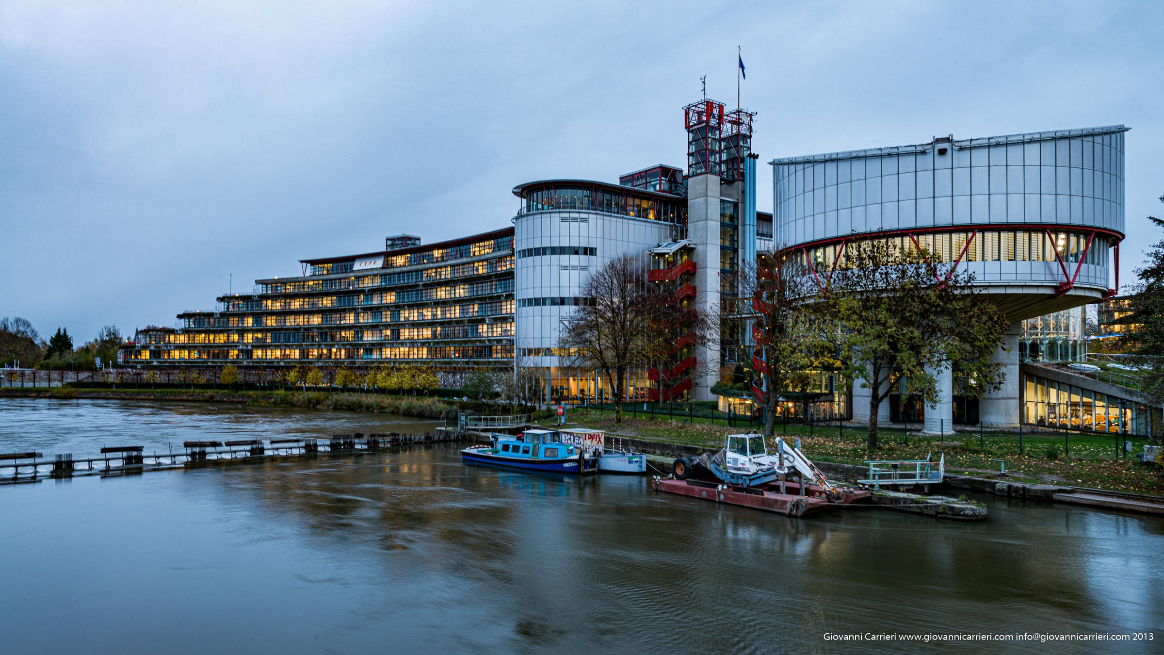 Il parlamento dell'Europa Unita a Strasburgo