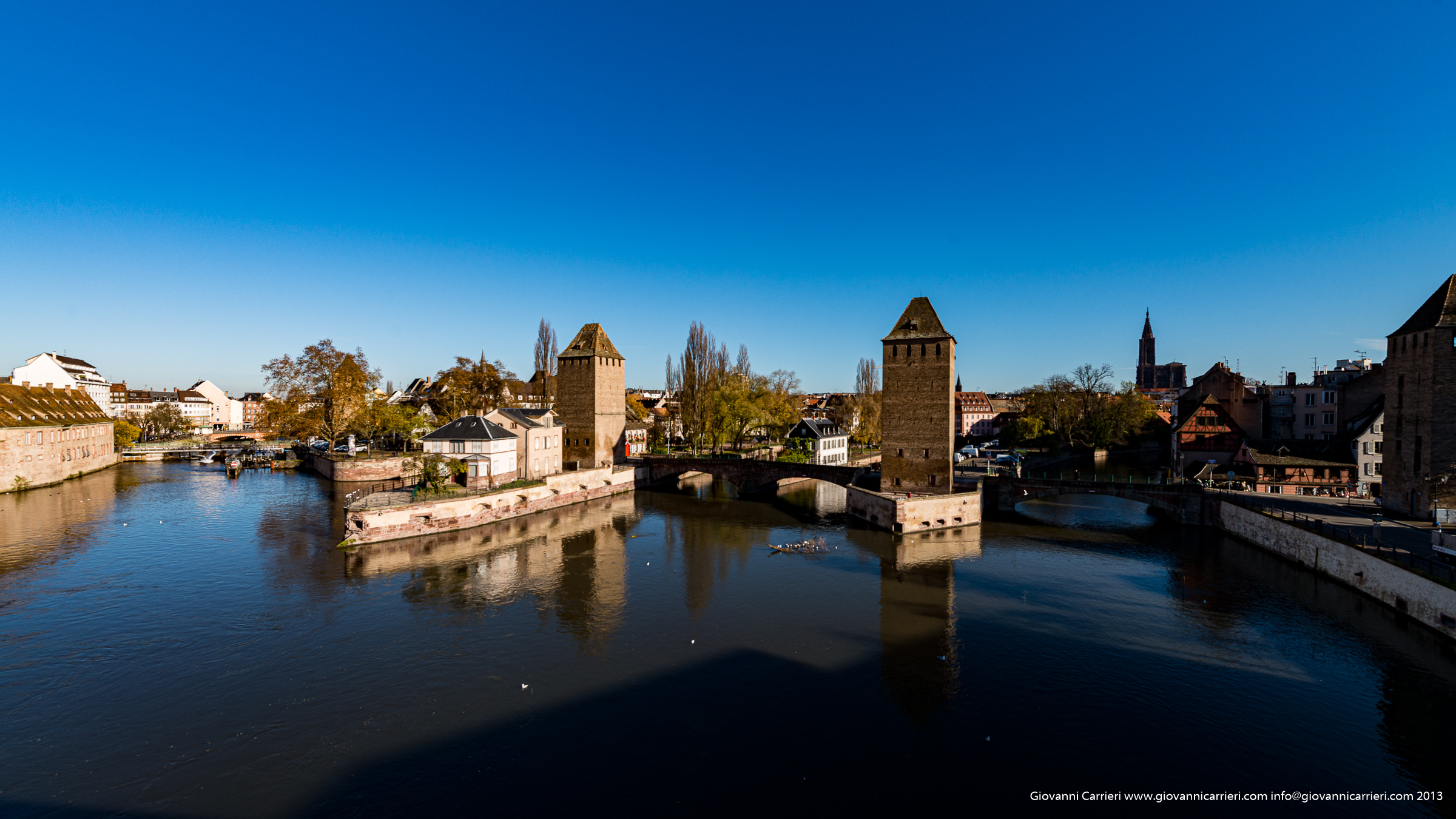 View from the covered bridge - Strasbourg Petite France