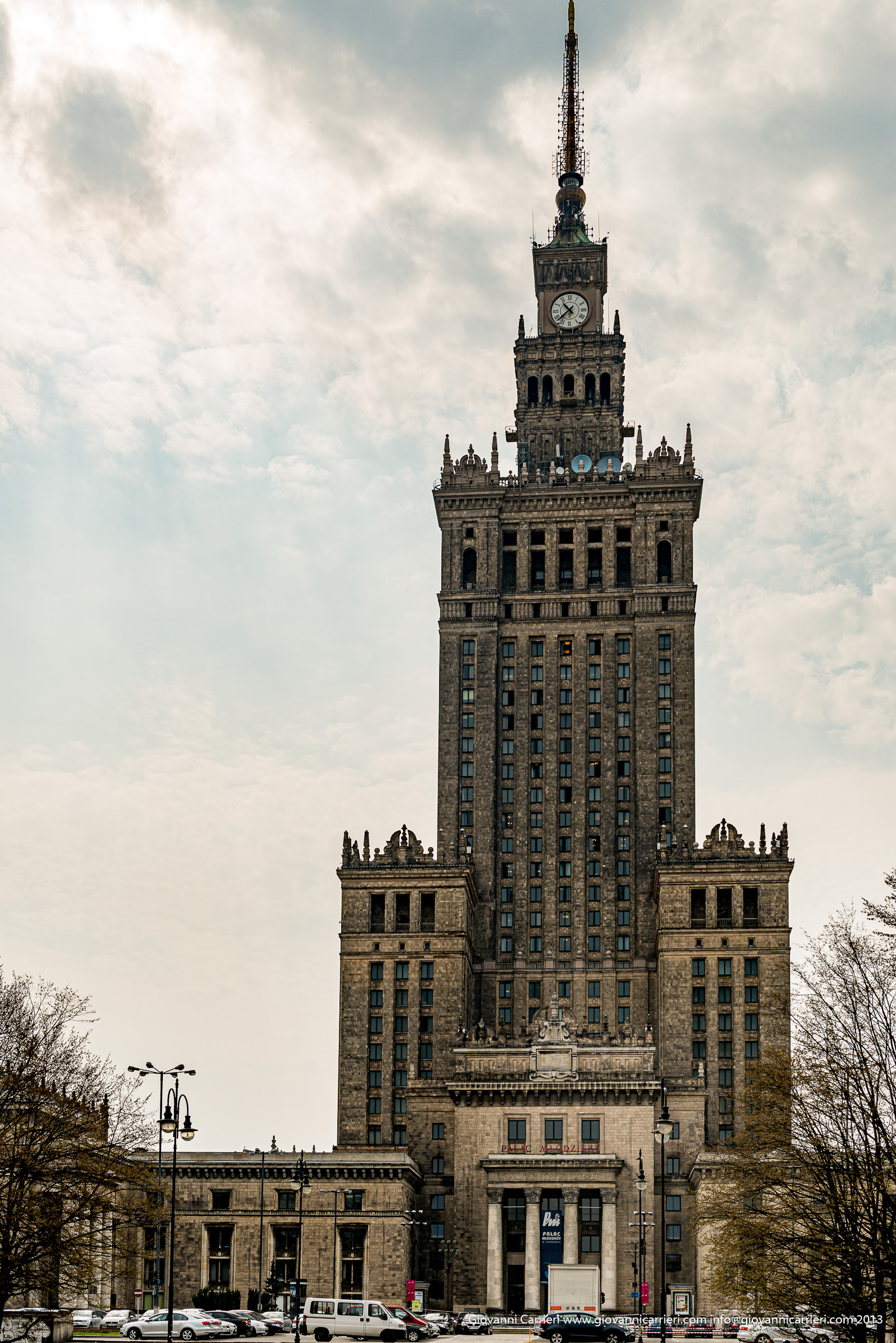 The Palace of Culture and Science, built by Joseph Stalin