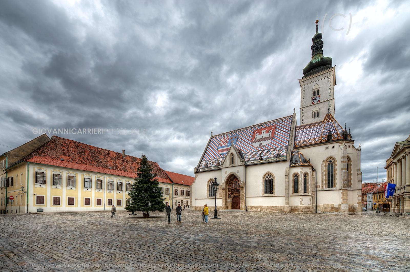 La chiesa di San Marco visa da lato sud - Zagabria