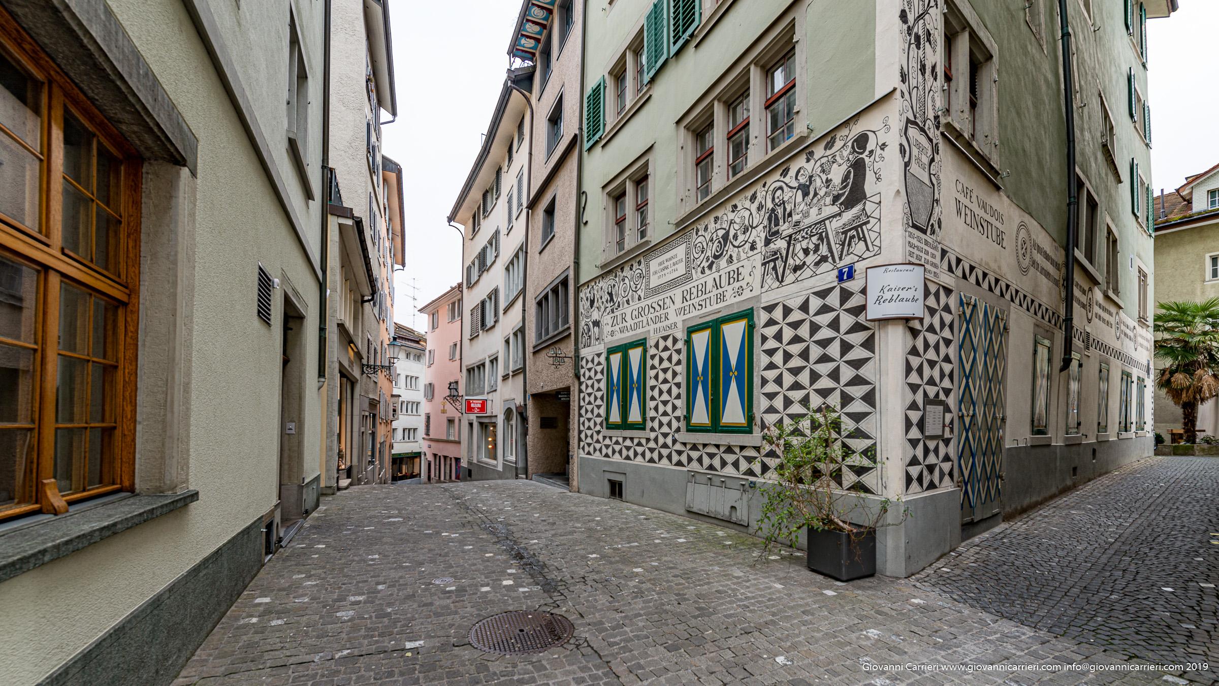 Le strade del centro di Zurigo